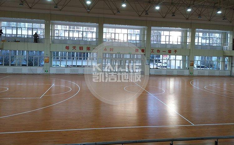 凯洁体育馆实木地板