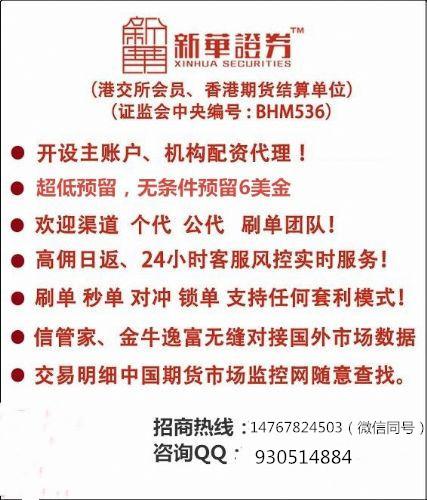 新华国际期货母账户