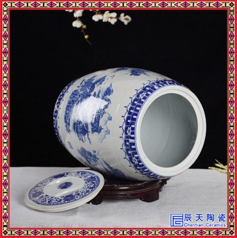 10斤陶瓷米缸米桶储米箱带盖 50斤收纳凳家用密封储物缸